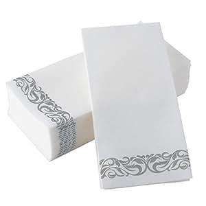 Amazon Com Bloomingoods Disposable Linen Feel Guest