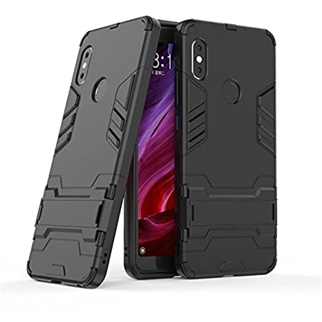 size 40 ecc5c c6b2b TARKAN Heavy Duty Shockproof Armor Kickstand Back Case Cover for Redmi Note  5 Pro (Black) 2018