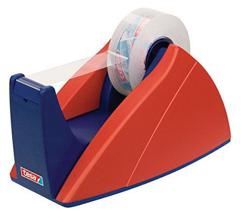 tesa Tischabroller, professionelles Modell, für kleine Rollen, rot-blau