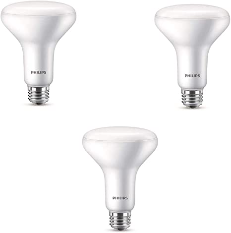 Philips Dimmable Light Efficient BR40 Soft White Bulb 65W LED 2700K Pack of 12