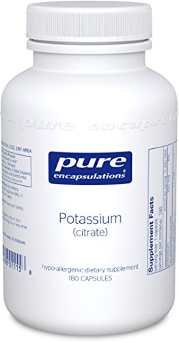 Pure Encapsulations - Potassium (Citrate) - Hypoallergenic Supplement to Support Nerves, Muscles, Blood Flow, and Cardiovascular Health* - 180 Capsules