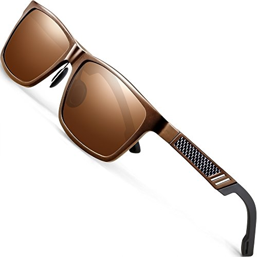 ATTCL Men's Hot Retro Al-Mg Metal Frame Driving Polarized Sunglasses Al-Mg Metal Frame Ultra Light 6560 ()