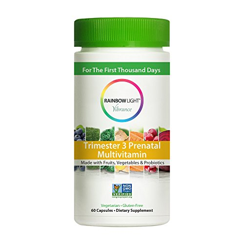 Rainbow Light Vibrance Trimester 3 Prenatal Multivitamin, 60 Count (Rainbow Prenatal Vitamins)