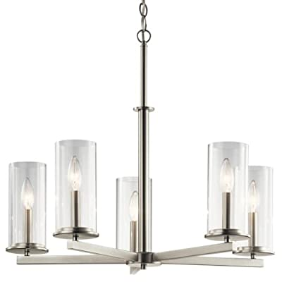 """Kichler 43999 Crosby 5 Light 26.25"""" Wide 1 Tier Candle Style Chandelier,"""