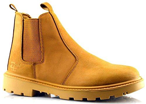 Grafters Heren Leren Uniform Schoenen 13 Honing