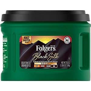Folgers Decaf Black Silk, Dark Roast Ground Coffee, 20.6 Ounce on