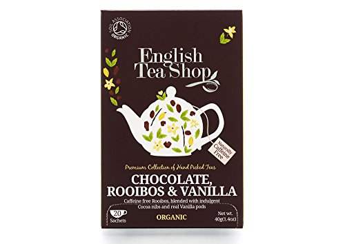 (English Tea Shop Rooibos Chocolate Vanilla Organic 20 Sachet Tea Bags (Pack of)