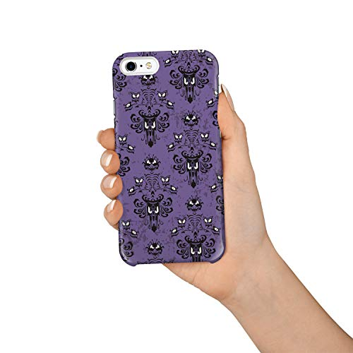 (Durable Phone Case for iPhone 6/iPhone 6s, Halloween Purple Ghost Face Stylish Phone Shell Shockproof Protective Back Cover with Tempered Glass Screen Protector,)