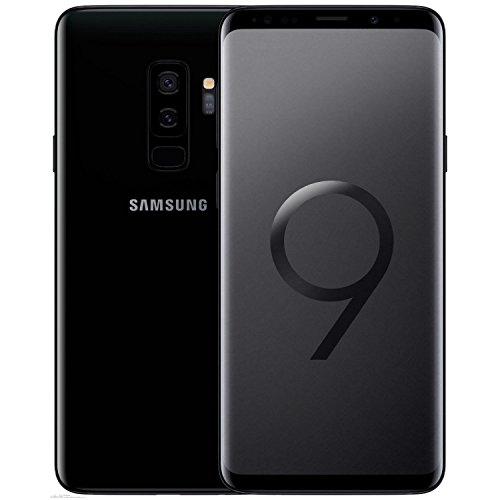 Samsung Galaxy S9+, 64GB, Midnight Black -Fully Unlocked (Renewed)