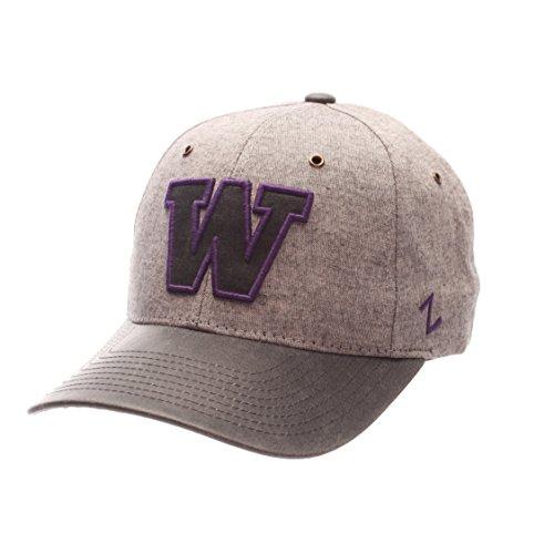 Zephyr NCAA Washington Huskies Adult Men The Supreme Cap, Adjustable, Gray