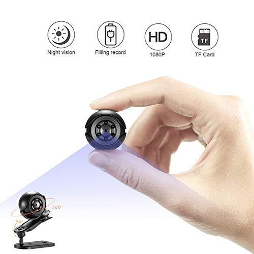 (Heymoko 1080P/720P Mini Spy Hidden Camera Full HD 6 LED Infrared Night Vision Motion Detection Portable Spy Camera Home Surveillance Camera Nanny Cam)
