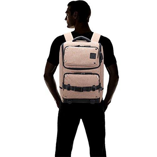 Alpinista Recorrido Hombres Nylon Aire Fandare Libre Viaje 17 Marrón Al La Backpack Morral Bolso Para Ordenador Escuela Portátil Mochila Ocio Mujeres Negro YqAY7xU
