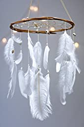 Large White Dream Catcher Mobile - 12\