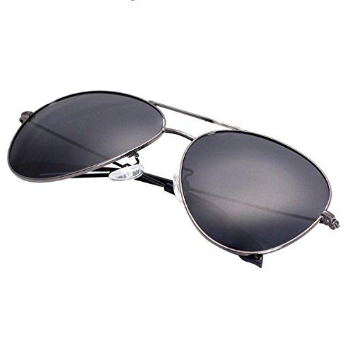 Gafas sapos de Sol conducción Gafas KOMNY Marcos Black Metal Sol de Personalidad Sol Black de Gafas Cara de polarizador Hombre Redonda Sq8tSnUxw