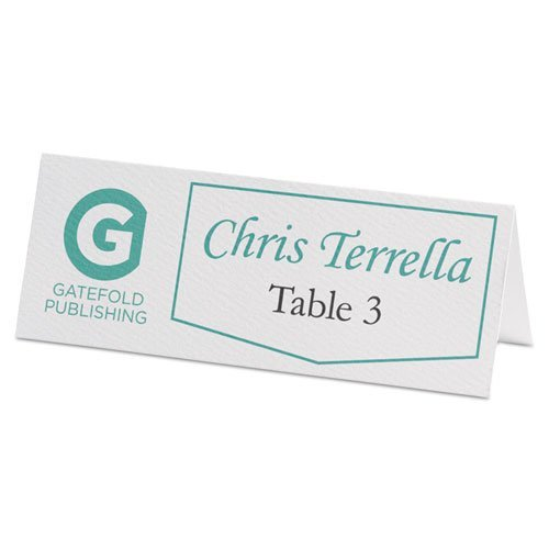 Avery-Dennison 5011 Small Textured Tent Cards44; White