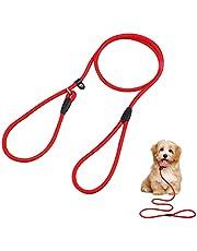 Nylon Dog Slip Lead, 4.6 ft Pet Slip Lead for Small and Medium Dog (Black)