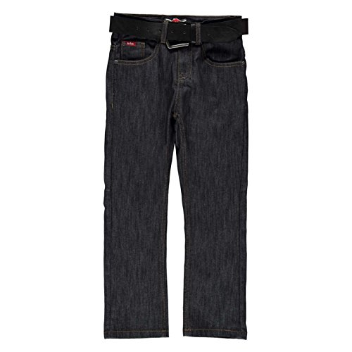 Belted Raw Denim Jean (Lee Cooper Kids C Belted Straight Jeans Juniors Pants Trousers Bottoms Cotton Raw 9-10 (MB))