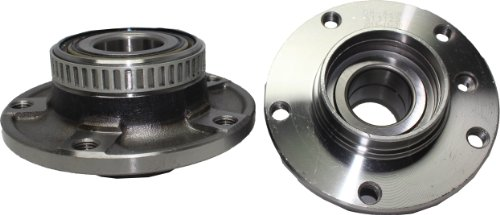 Bmw Front Wheel Bearing - Brand New (Both) Front Wheel Hub and Bearing Assembly for 1991-08 BMW 5 Lug W/ABS (Pair) 513125 x 2