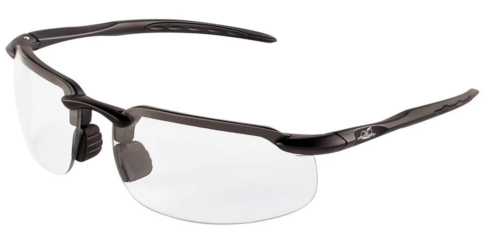 Bullhead Safety Eyewear BH106125 Swordfish Readers Clear Lens 2.5 Diopter PRO HERO 1 Pair Matte Black Frame
