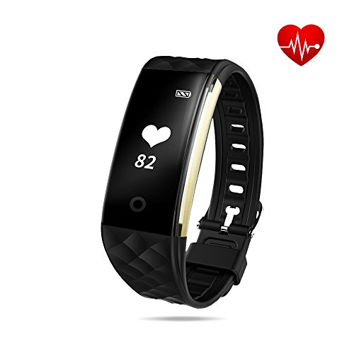 Toprime Heart Rate Monitor, Waterproof Activity Tracker with Real-time Heart Rate Sensor, Pedometer, Sleep Monitor, Fitness Tracker for Kids Men Women