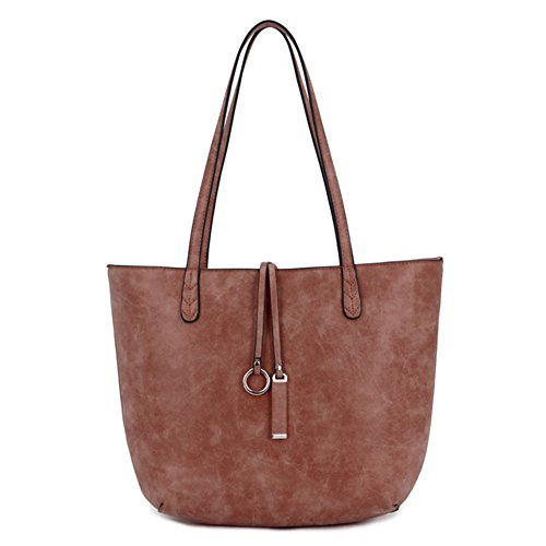 Shoulder Brown for Handbags LS Bags Purse Shaped Chic Messenger Women Designer Tote Grab Casual Dumpling Bag nPqwR4