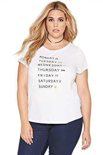 Damen Casual lose gedruckt Kurzarm Shirt Plus Größe