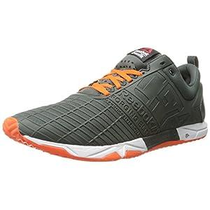 Reebok Men's Crossfit Sprint TR Training Shoe, Dark Sage/Flux Orange/White, 13 M US