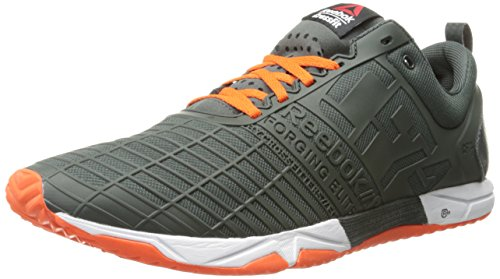 (Reebok Men's Crossfit Sprint tr-m, Dark Sage/Flux Orange/White, 11 M US )
