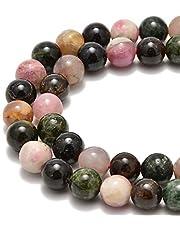 "Nancybeads Gemstone Round Spacer Loose Beads 1 Strand 15.5"""