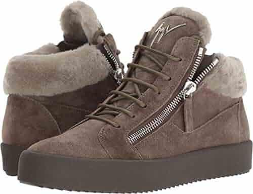 e8b010847e68 Giuseppe Zanotti Men s May London Shearling Sneaker Vigogna 43 M EU M