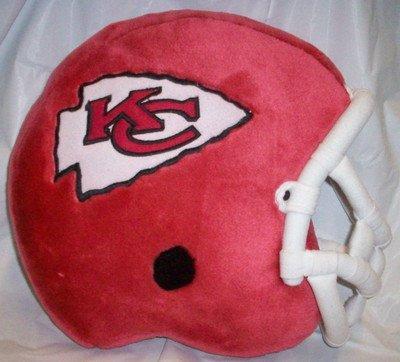 - Kansas City Chiefs Helmet Shaped Pillow with Team LOGO