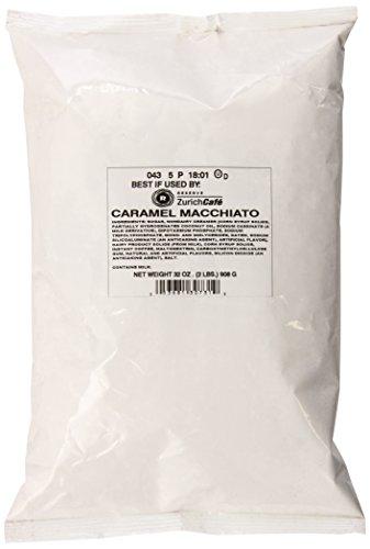 English Toffee Cappuccino - Zurich Cafe Caramel Macchiato Cappuccino, 2 Pound Bag (Pack of 6)