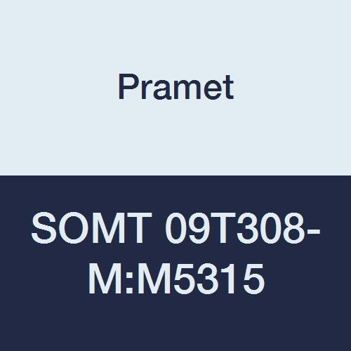 Milling Insert Positive Hardened Material Pramet SOMT 09T308-M:M5315 Carbide Pramet Cast Iron K25,H20 Square SOMT Style.031 Rad Pack of 10