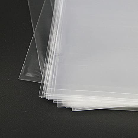 Good for 6x6 Square Cards 6-1//2x6-1//2 Crystal Clear 100 Bags Tape Strip on Body Prints Protective Polypropylene Storage Bags Mat Board Center Photos