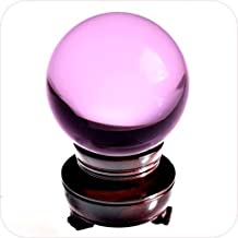 Amlong Crystal Pink Crystal Ball 50mm (2 in.) Including Wooden Stand and Gift Package