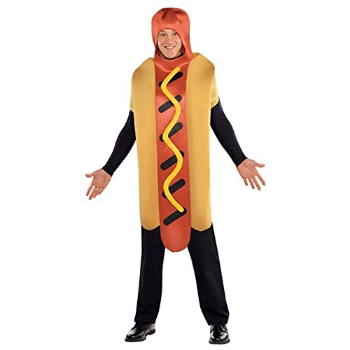 [Hot Diggety Dog Costume - Standard - Chest Size 42] (Hot Dog Costume For Adults)