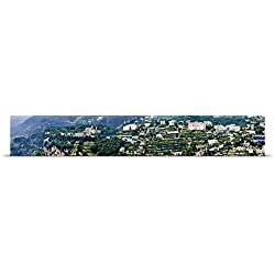Great BIG Canvas Poster Print entitled Town on a hill Ravello Amalfi Coast Campania Italy
