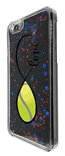 C0139 - Love Infinity Love Tennis Design iphone SE / iphone 5 5S Hülle Fashion Trend Flüssiges Glitter Hülle 3D Flüssig Bling Schwimmend Treibsand Stern Luxus Shiny Hülle - Schwarz
