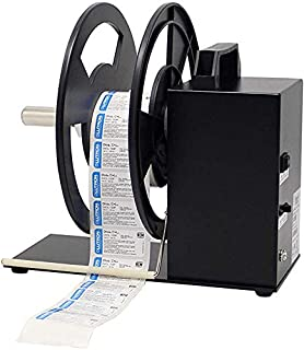 TOPQSC Label Rewinder 180MM Label Tags Rewinder 1-3 Inch Core Automatic Label Rewinding Machine for Barcode Printer