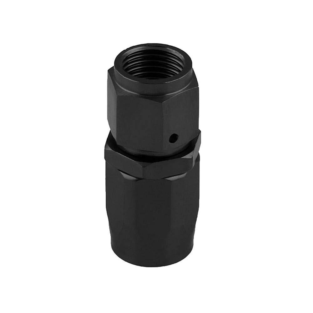 Matefielduk Conectores de Fin de Manguera de Combustible Adaptador de Ajuste de Extremo de Manguera de la lí nea de Combustible de Aceite Giratorio de Aluminio AN10 (90 Grados)