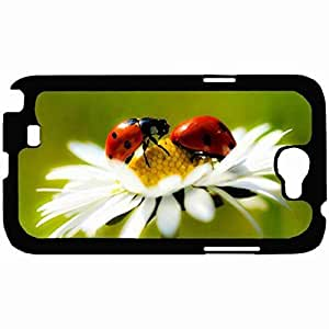 New Style Customized Back Cover Case For Samsung Galaxy Note 2 Hardshell Case, Back Cover Design Ladybug Personalized Unique Case For Samsung Note 2