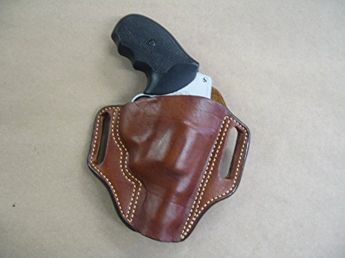 Charter Arms Bulldog 5 Shot Revolver Leather 2 Slot Molded Pancake Belt Holster CCW TAN RH (Best Holster For Charter Arms Bulldog)