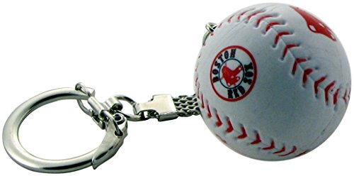 Boston Red Sox Baseball Key Chain with Red