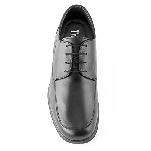 Masaltos Schuhe Herrenschuhe Die auf Unsichtbare Weise Ihre Körpergrösse bis zu 7 cm Erhöhen. Herrenschuhe mit Verstecktem Absatz. Modell Flex Nature C Schwarz