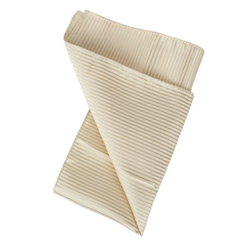 DEE3A0119 Beige Stripes Handmade Fabric Pocket Square Woven Microfiber Excellent Store Hankerchief By Dan Smith