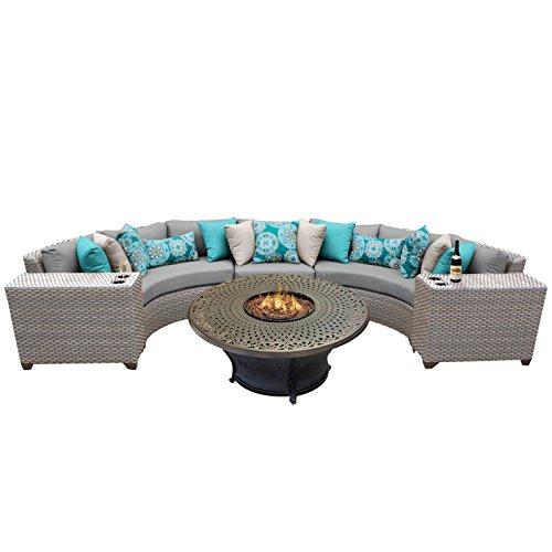 - TK Classics FLORENCE-06i-GREY 6 Piece Outdoor Wicker Patio Furniture Set, Grey