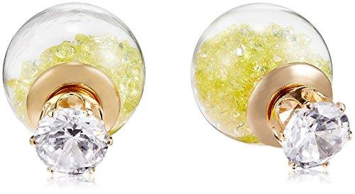 NewU Celebrity Inspired Dual Stud Bubble Earrings