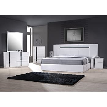 Amazon.com: J&M Furniture 17853-K Palermo King Size Bedroom set ...