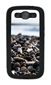 Samsung Galaxy S3 Case Cover - Pebbles On The Beach Custom TPU Silicone Case for Samsung Galaxy S3 / I9300 Black