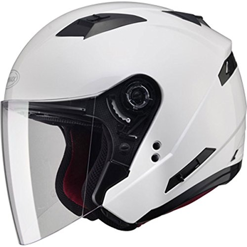 GMAX Unisex-Adult Style G3770086 Of77 Open Face Helmet Pearl White l ()